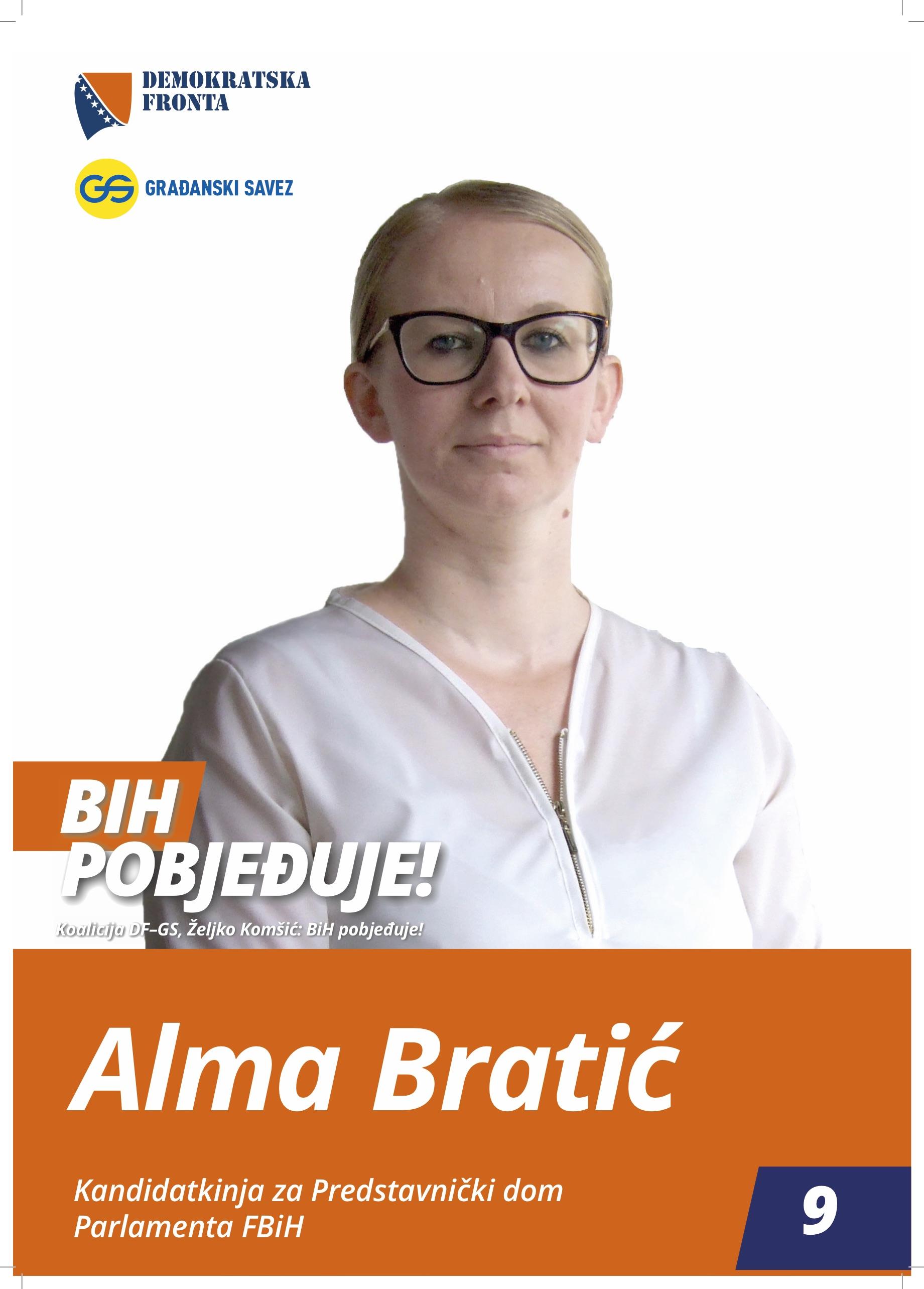 Alma Bratić, diplomirani pravnik