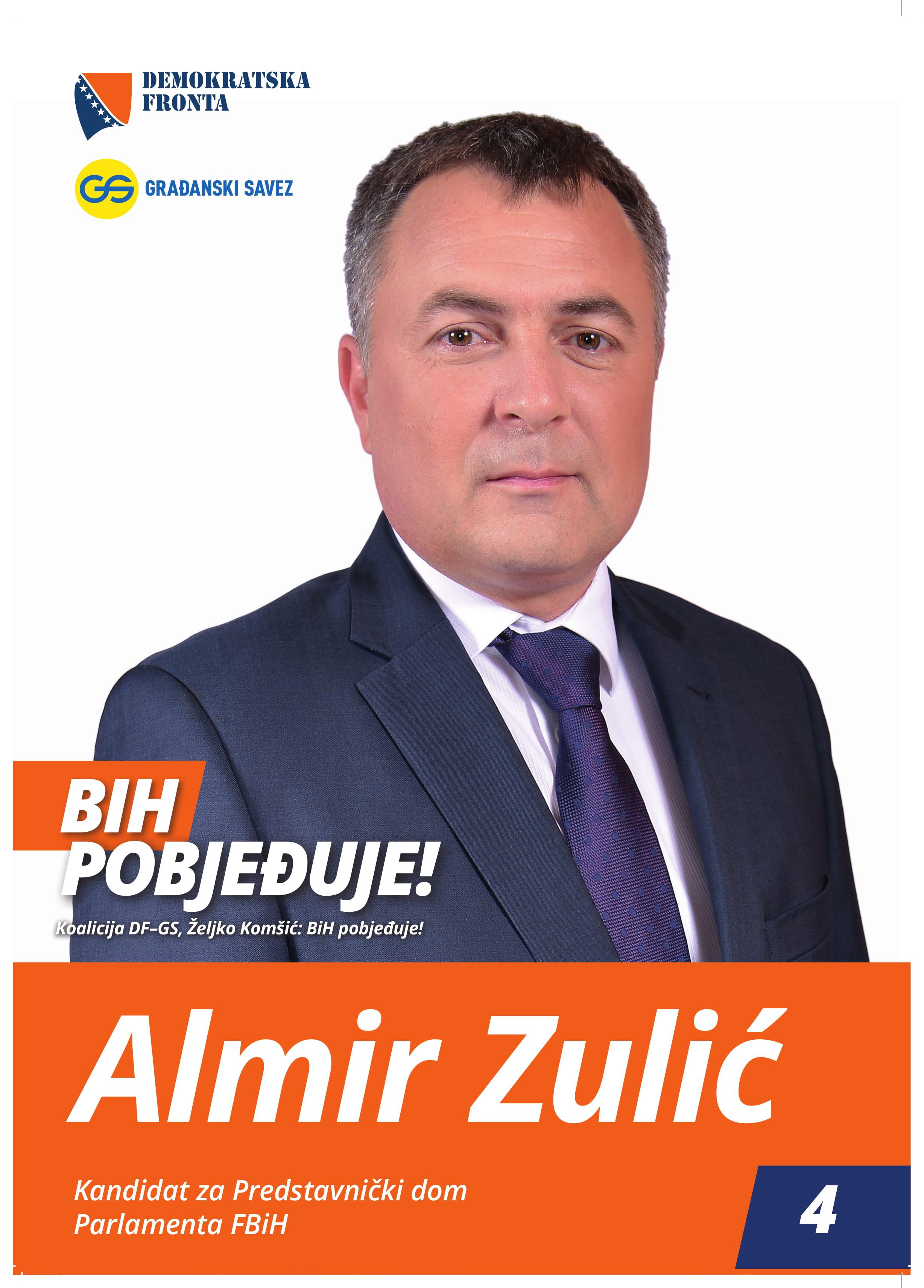Almir Zulić, diplomirani menadžer za finansije i bankarstvo
