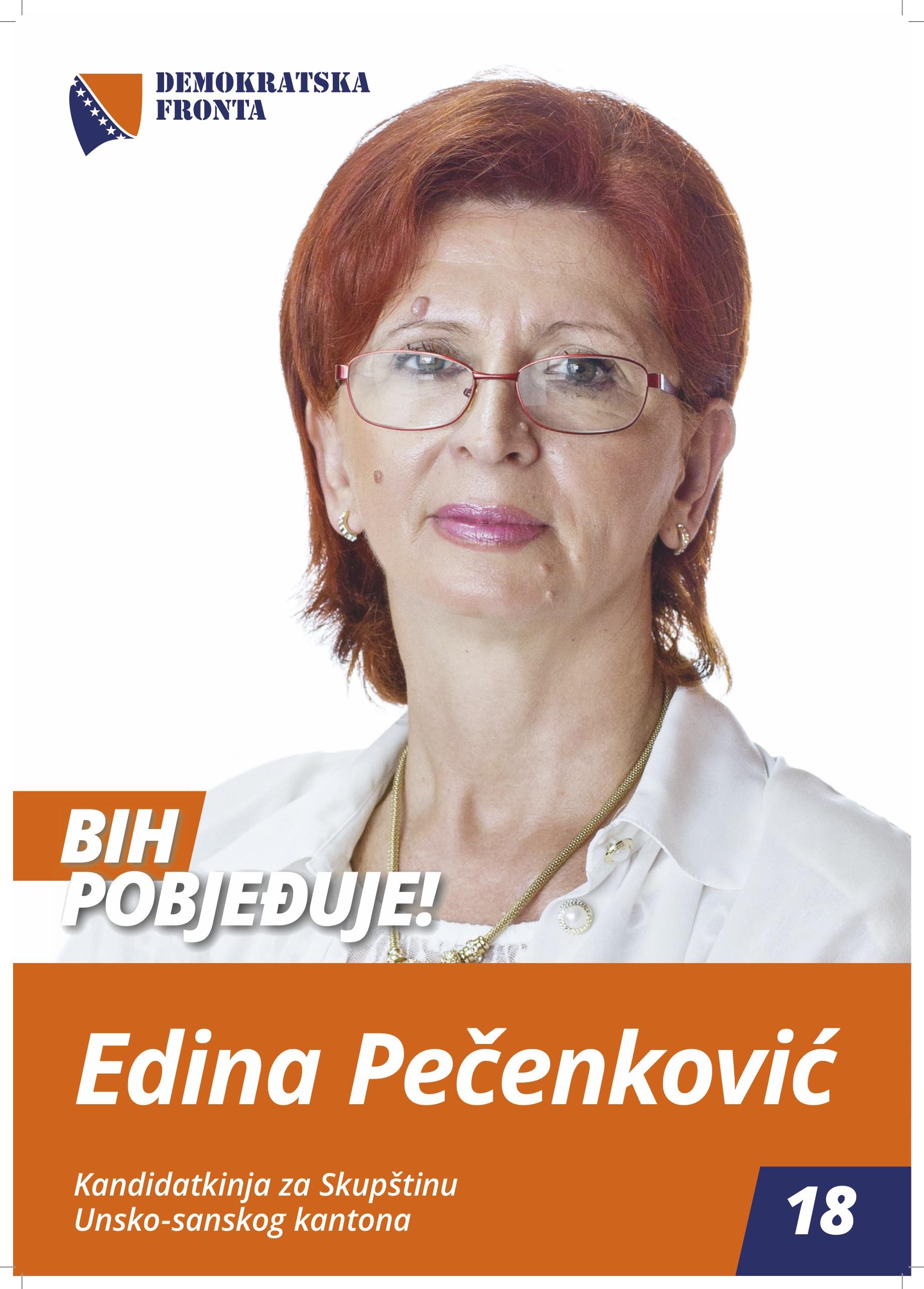 Edina Pečenković, medicinska sestra