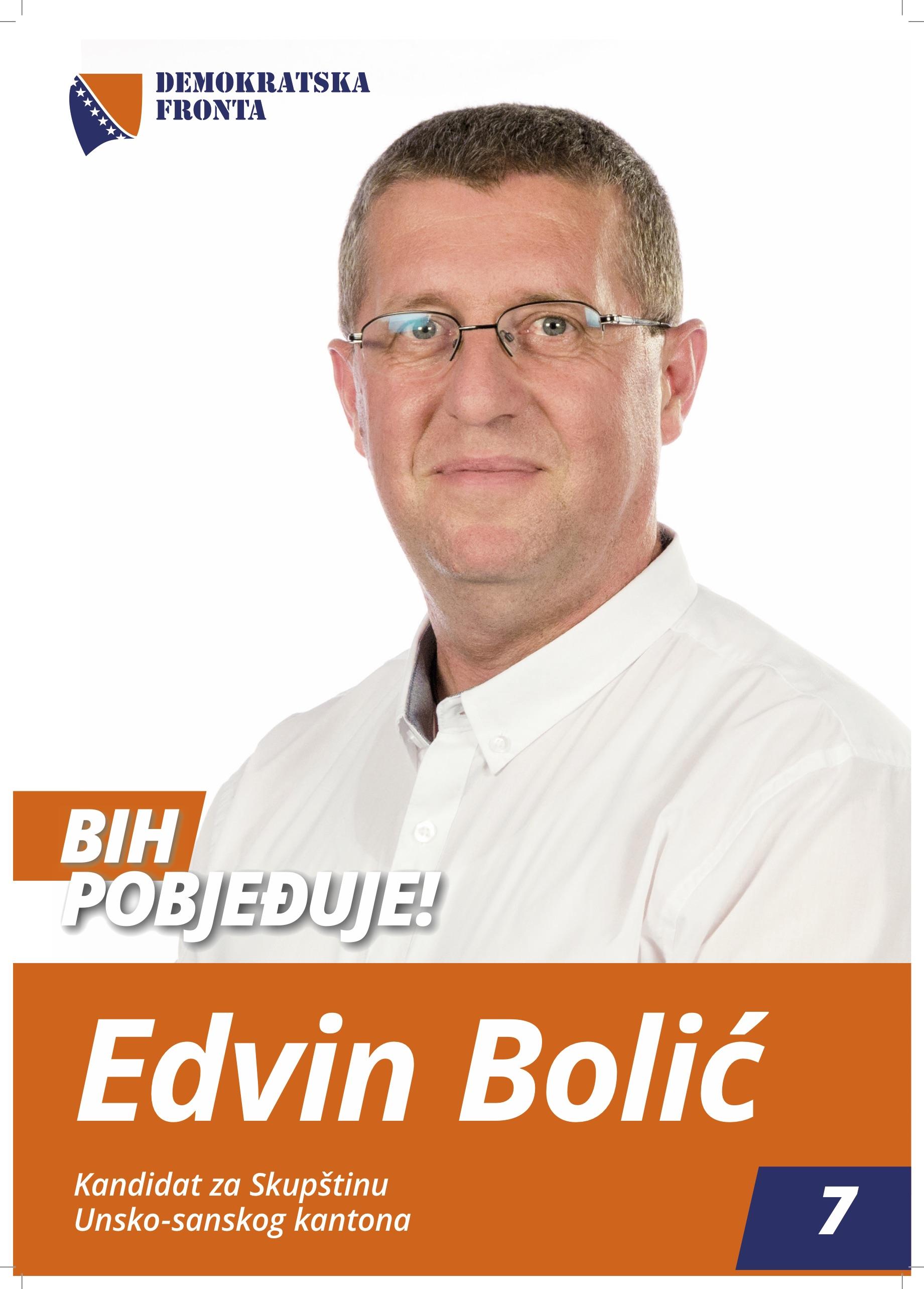 Edvin Bolić, magistar građevine