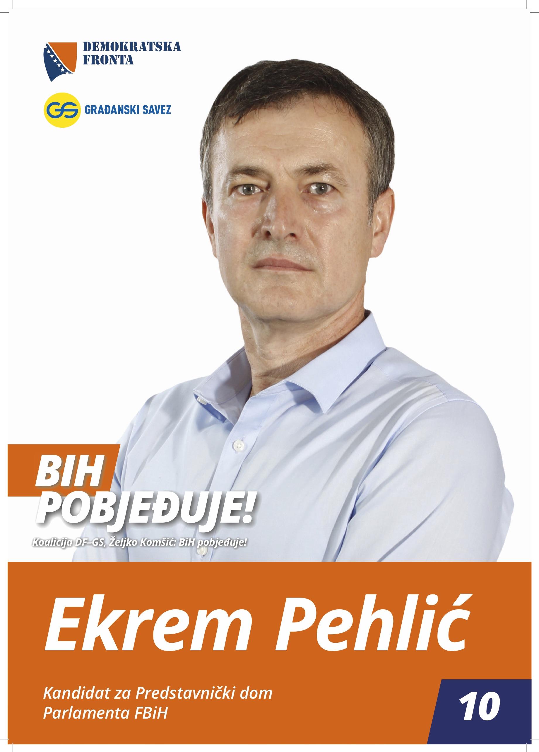 Ekrem Pehlić, profesor doktor nauka