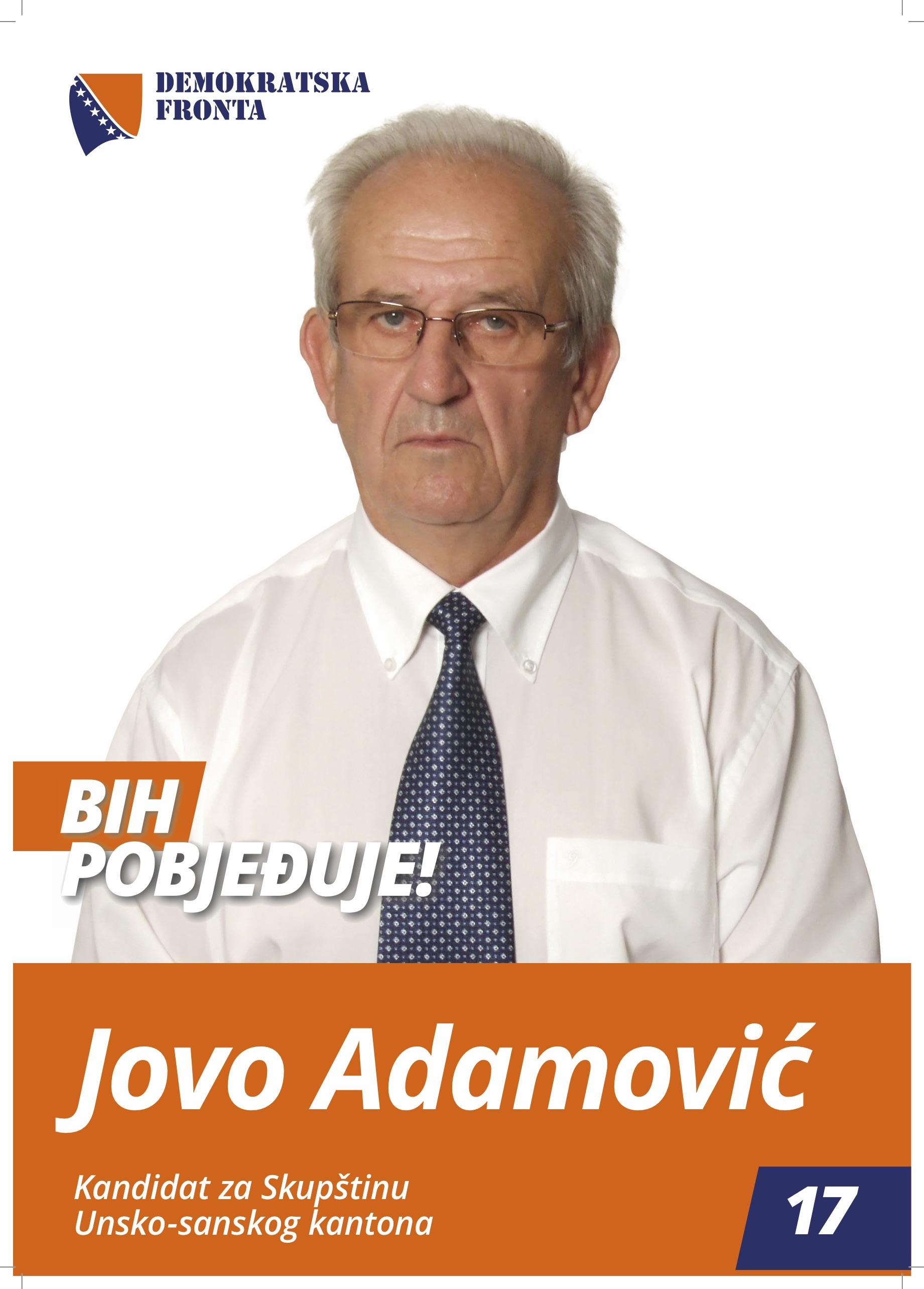 Jovo Ademović, inžinjer mašinstva