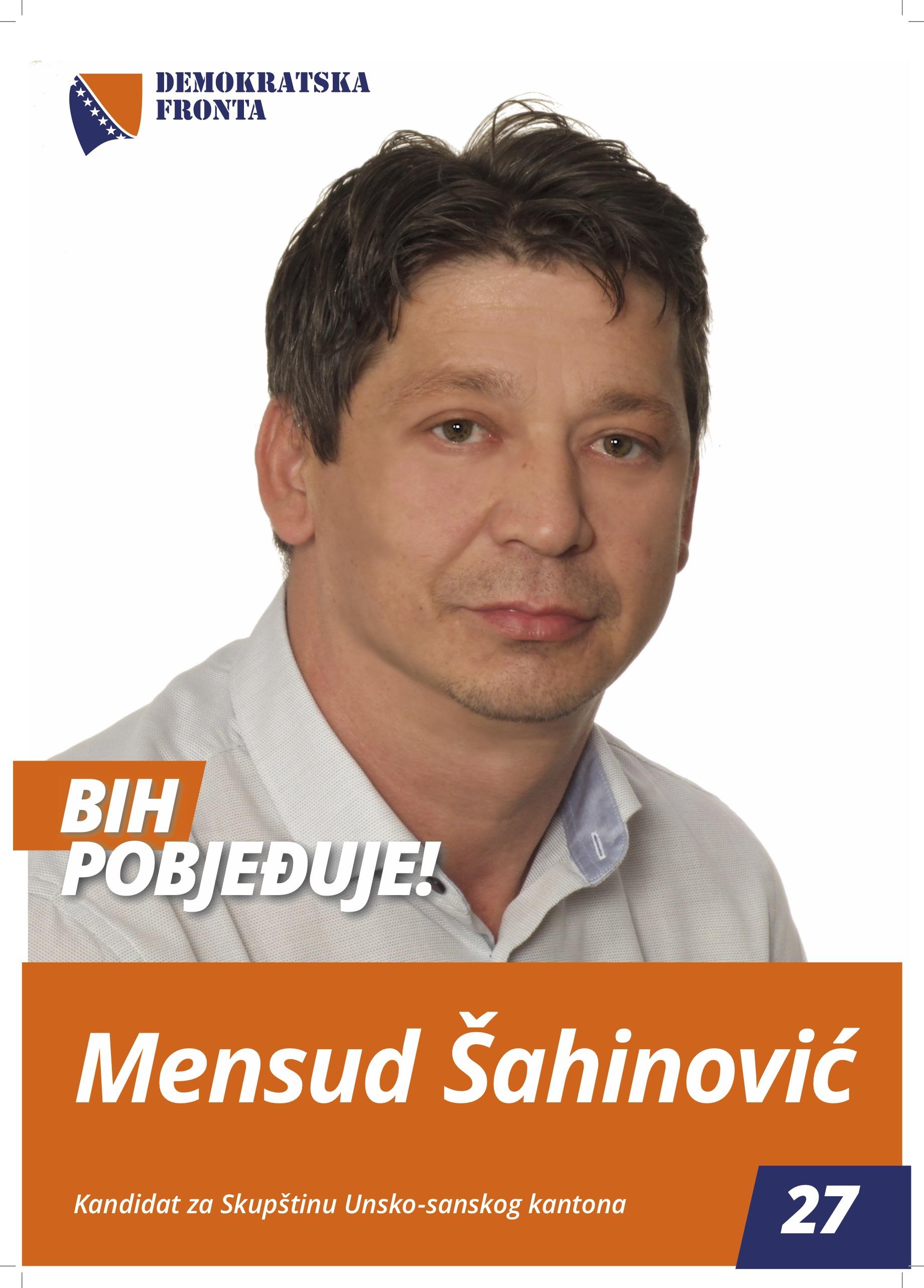 Mensud Šahinović, diplomirani ekonomista