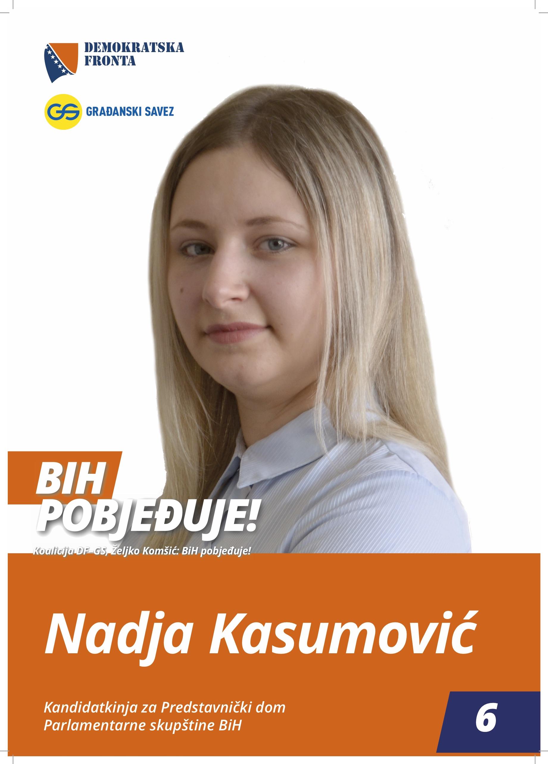 Nadja Kasumović, bachelor poslovne ekonomije