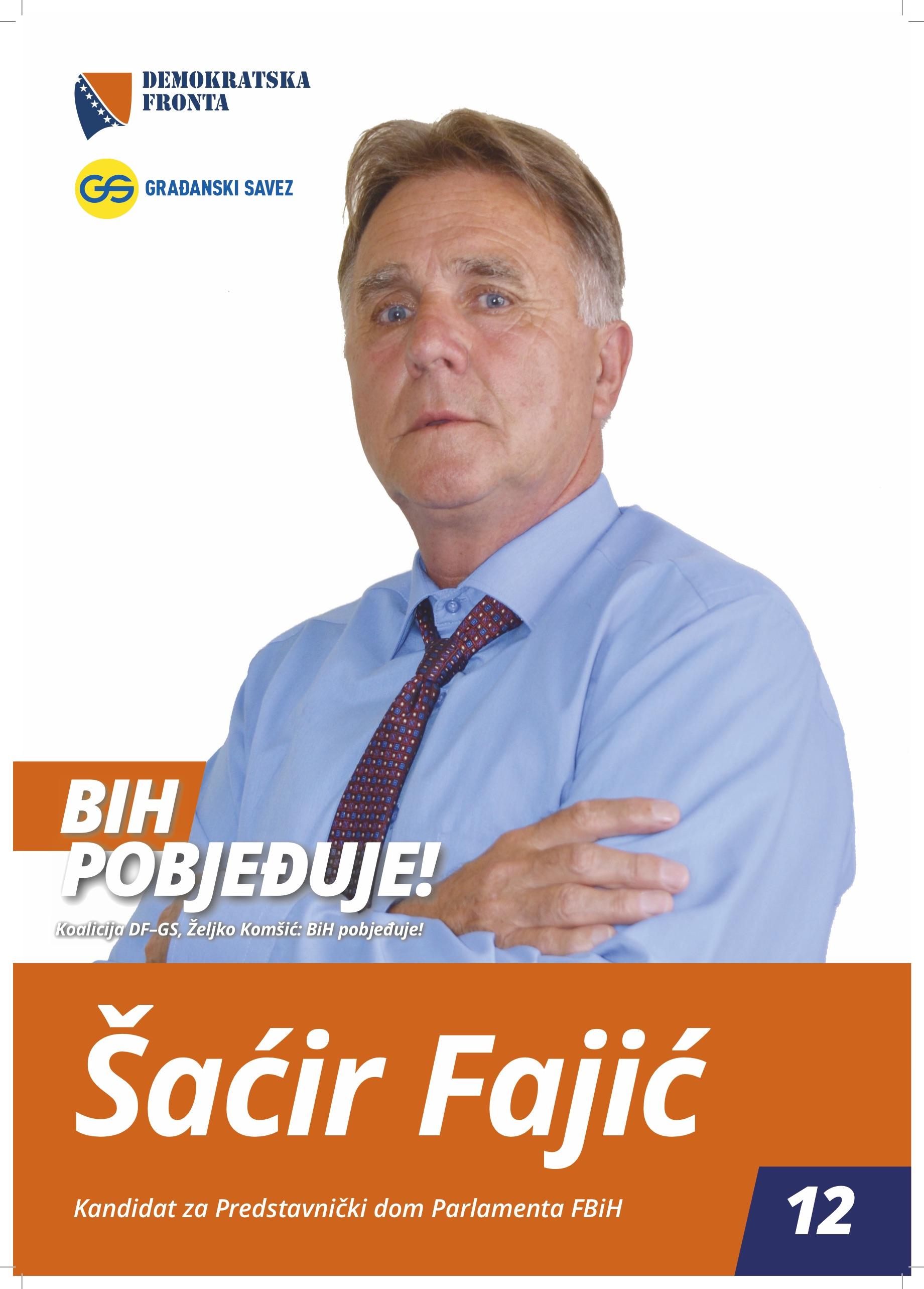 Šaćir Fajić, diplomirani ekonomista