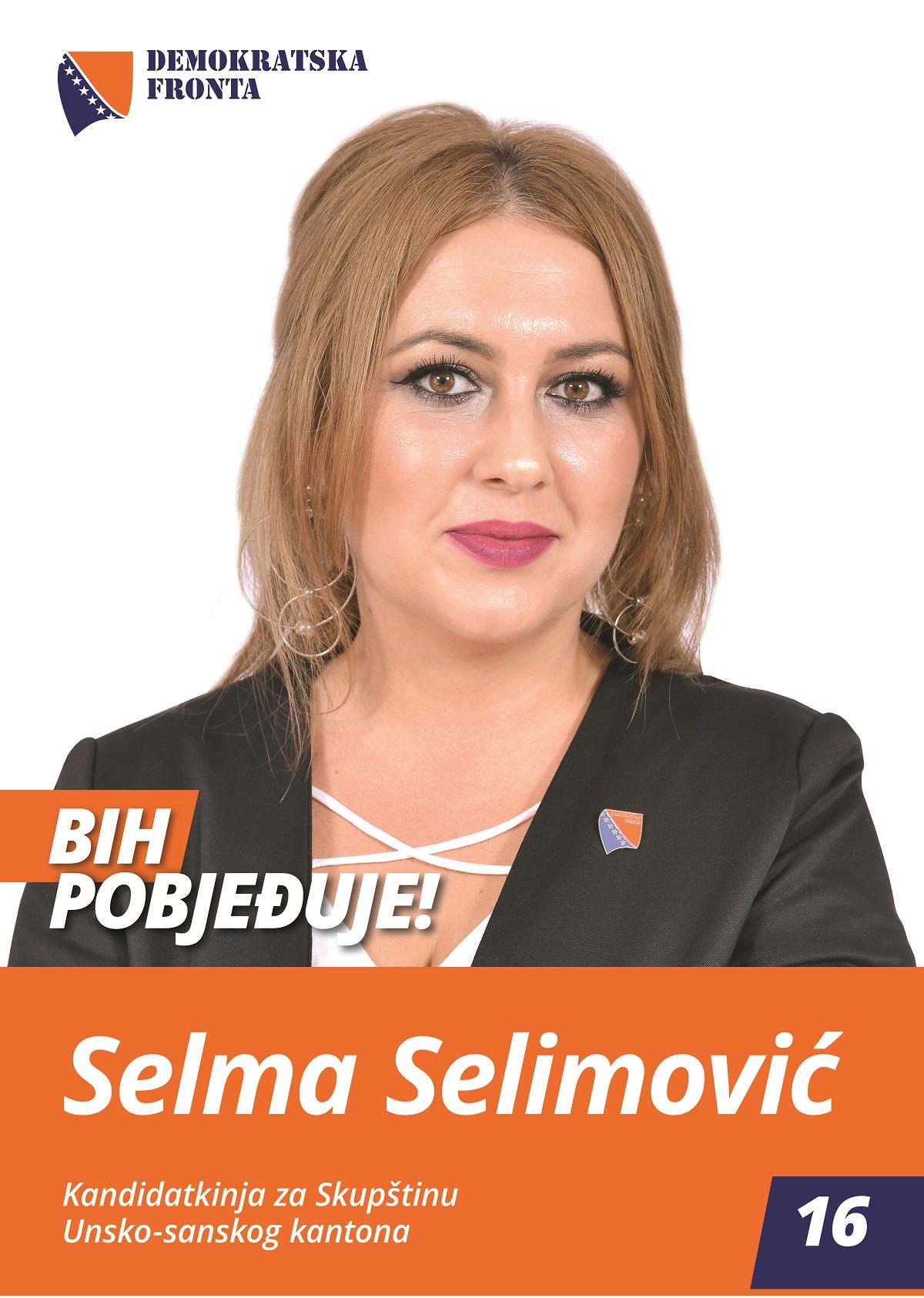 Selma Selimović, diplomirani inžinjer medicinsko - laboratorijske dijagnostike