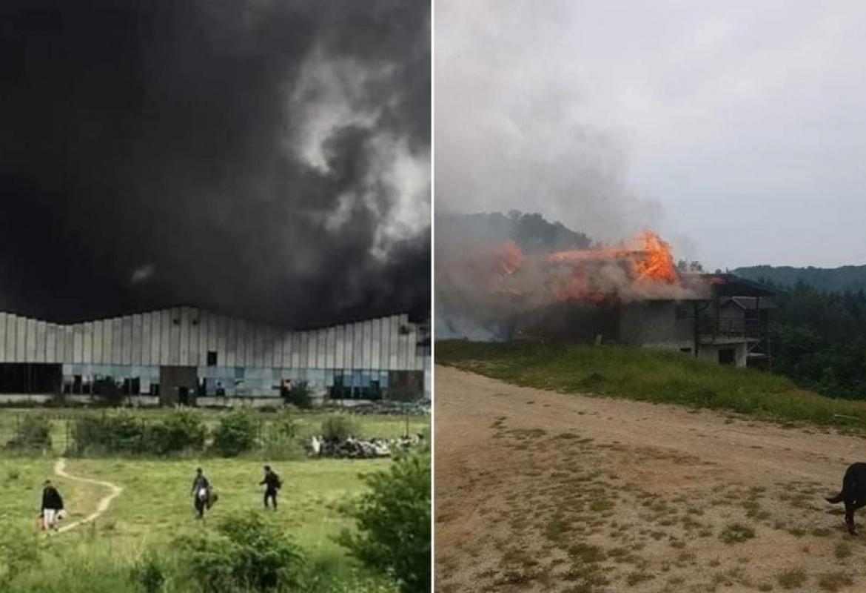 Migranti izazvali velike požare u dva napuštena objekta u Velikoj ...